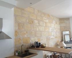 Cheminée de Bordeaux Bastide Pose Plus - Bordeaux - Verrière & Restauration pierre - rénovation d'un mur en pierre
